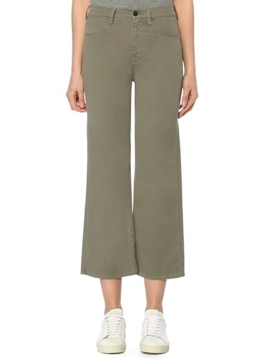 J Brand Yüksek Bel Bol Paça Pantolon Haki